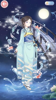 Anime Outfits, Girl Outfits, Chinese Kimono, Anime Kimono, Bleach Characters, Game Background, Yukata, Japanese Girl, Chibi