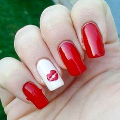 17 Red Hot Valentine's Day Nails for 2018 - Nail Art HQ