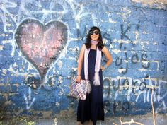 Coffee Break: Navy Dress Style #5: Mexican Accesories and Heart Grafitti