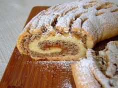 Mürbeteig-Nussrolle Shortcrust pastry – nut roll, a very delicious recipe from the category cake. Ratings: Average: Ø Shortcrust pastry: The basic recipeNut – pudding cakeNut speculum waffles Pecan Recipes, Easy Baking Recipes, Sweet Recipes, German Baking, German Desserts, Gateaux Cake, Shortcrust Pastry, Limoncello, Sweet Cakes