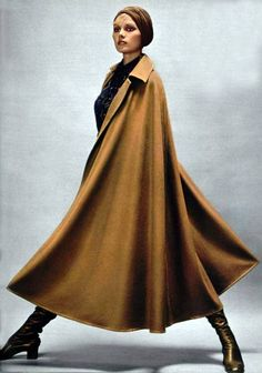 Yves Saint Laurent Camel Long Line Cape