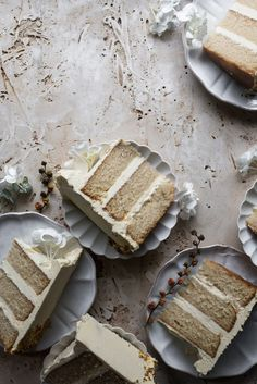 Vanilla Bean Chamomile Cake with Honey Mousseline Buttercream – Cake Recipes 2019 Baking Recipes, Cake Recipes, Dessert Recipes, Vanilla Recipes, Food Cakes, Cupcake Cakes, 16 Cake, Let Them Eat Cake, Just Desserts