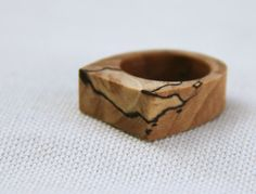 another stunning natural wood ring (maple) // thewoodlot on etsy