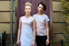 Pink Scallop Dress £40 Pink Pocket Tee £35  Models: Lee-ann Mccall and Matthias McGregor Photographer: Daniela Flores MUA: Heather Snowie Hair: Heather Nelson