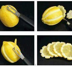 Culinária - Limão para decorar pratos