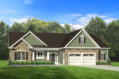 Ranch House Plan with 1598 Square Feet and 3 Bedrooms from Dream Home Source | House Plan Code DHSW076655