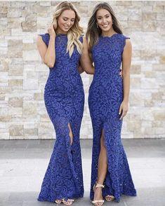 Our Navy Valentine Gown #bridesmaids #weddingfashion #whiterunway