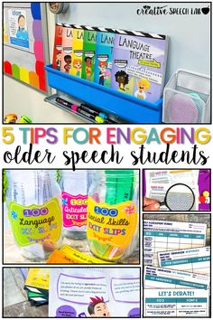 Looking for more ways to engage your middle school speech language students? In this post, I share some of my favorite speech therapy ideas and tips to increase engagement, even with your older speech students.