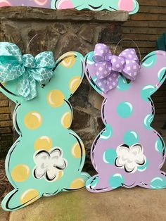 Your place to buy and sell all things handmade – Door hanger Bunny Crafts, Easter Crafts, Diy Crafts, Easter Decor, Easter Ideas, Easter Centerpiece, Easter Projects, Adult Crafts, Wood Crafts