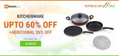 REPUBLIC DAY SALE !  Use Coupon Code AZADI26 & Get Up To 60% OFF + ADDITIONAL 26% OFF on Kitchenware Products ! #RepublicDay #Offer #Discount #Kitchenware #KitchenUtensils #Deals #Sale
