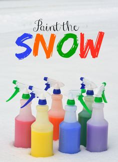 Kids clamoring to be out in the snow? This is a great activity to bring color and fun outside this winter!