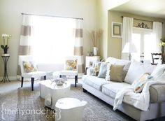 burlap Living Room