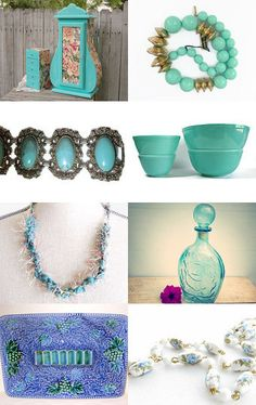 Great Gifts of blue  by msmunlimited1 on Etsy--http://etsy.me/1qgZoQd via @Etsy #bluedecor #bluejewelry #bluejewelrybox #indigoblue #turquoiseblue