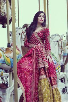 Sana Ansari for Ansab Jahangir Bridals S/S 2017 Pakistani couture