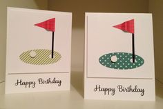 Golf Birthday Cards. Layout from Joanne Press.