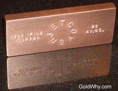 Copper Ingot Copper Bar, My Precious, Precious Metals, Stone, Silver, Gold, Collections, Ideas, Rock