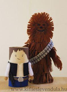 Star Wars tubos de carton