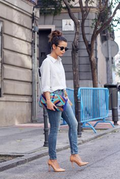 Discover and organize outfit ideas for your clothes. Decide your daily outfit with your wardrobe clothes, and discover the most inspiring personal style Nude Outfits, Heels Outfits, Fashion Outfits, Womens Fashion, Nail Fashion, Fashion Moda, Denim Fashion, Style Désinvolte Chic, Look Chic