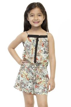 A multicolour floral printed play suit for your cute little princess! Shop:http://www.oxolloxo.com/kids/girl-stylish-printed-playsuit.html