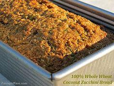 100% Whole Wheat Coconut Zucchini Bread by Farmgirl Susan, via Flickr
