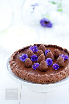 Mazurek czekoladowy bez pieczenia - Lawendowy DomLawendowy Dom