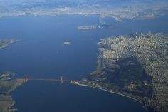 The Golden Gate Bridge and the city of San Francisco from the air. (Steven Luo / CALIFORNIA BEAT)