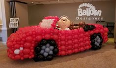 Balloon Show, Deco Ballon, Balloon Curtains, Birthday Balloon Decorations, Latex Balloons, Mosaics, Grande, Sculptures, Cars