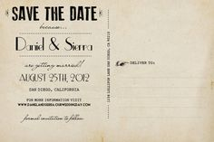 Vintage Save the Date Postcard the Sierra by NostalgicImprints
