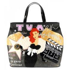 Braccialini Bag Hollywood Medium Handbag From The Cartoline Line By