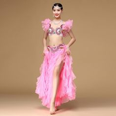 Orient Dance Dress Belly Dance 2pcs Outfit Set ( Bra and Skirt) Off Shoulder…