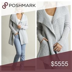 ✨coming soon✨double breasted cardigan Open Front Double Breasted Knit Cardigan - silver  - No trades  - Model is wearing size small - Like this listing for a price drop when it comes in Sweaters Cardigans