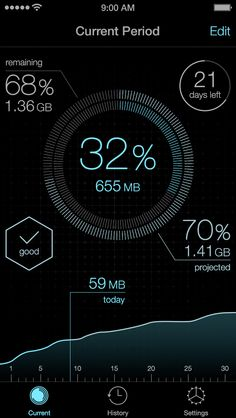 iOS data usage concept from dribbble.com