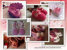 Sapatinhos de Croche... www.facebook.com/grethaborboleta