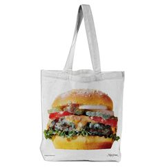 Very Goods | Sparkle Burger Tote designed by New York Magazine | Print All Over Me