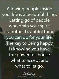 Accept or let go??