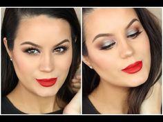 Red Lip & Brown Smokey Eye Tutorial ♡ MakeupByGio - YouTube