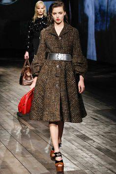 Los mejores momentos de moda y belleza de otoño invierno 2013 2014 en Milan Fashion Week: Prada