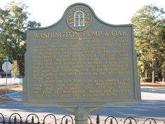 Historic Marker - Washington Pump on Osborne Street
