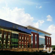 Reflections on the side of the new Liberty University School of Music!