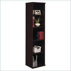 Bush BBF Series C 18W 5-Shelf Bookcase in Hansen Cherry