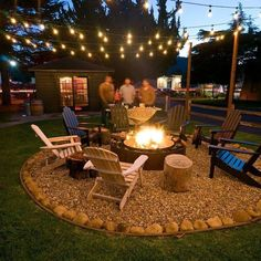 36 Amazing Fire Pit Design Ideas For Your Backyard Decor - Your backyard is a place and makes you would like to hang out with your friends all or grill barbecues. My point is, the backyard is one of the places. Backyard Patio Designs, Backyard Projects, Small Backyard Design, Small Backyard Landscaping, Backyard Seating, Fire Pit Landscaping Ideas, Wooded Backyard Landscape, Diy Patio, Wood Projects