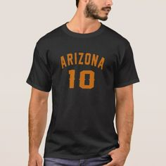 #Arizona 10 Birthday Designs T-Shirt - #giftidea #gift #present #idea #10th #tenth #bday #birthday #10thbirthday #party #teen