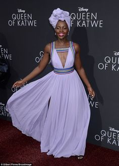 Simply sensational:Lupita Nyong'o showed off her fashion prowess as she took to the red c...