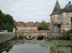 A beautiful castle we walked to while barging through canals in Burgundy, France