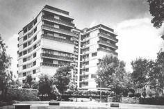 Conjunto Habitacional Unidad Independencia, San Jerónimo Lídice, México, DF 1960    Arqs. Alejandro Prieto Posadas y José María Gutiérrez Trujillo -    Independence Unit Housing Complex, San Jeronimo Lidice, Mexico City 1960