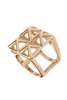 Pyramid 3D Cage Ring - Rings - Jewellery - Accessories - Topshop