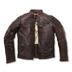 ROLAND SANDS Ronin Leather Jacket - Tobacco | The Cafe Racer