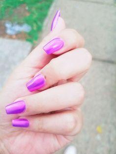 #uñas #nails #pink #purple #violet #efectodeluz  😍