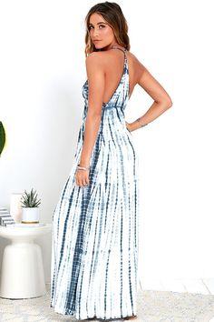 446045784d0 White Crow Sunstreak Blue Tie-Dye Maxi Dress