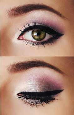 Pink and Silver Eye Shadow by Olive Oyl